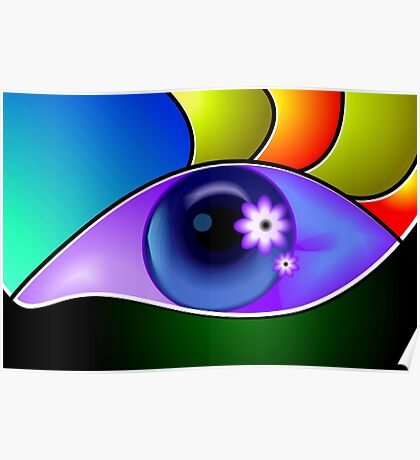 Beauty of an eye in attractive colour back ground Poster