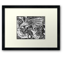 The demonic sorcerer Framed Print
