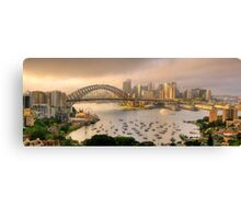 A Little Ray Of Sunshine - Sydney Harbour, Sydney Australia - The HDR Experience Canvas Print