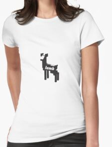 LAMB VECTOR Womens Fitted T-Shirt
