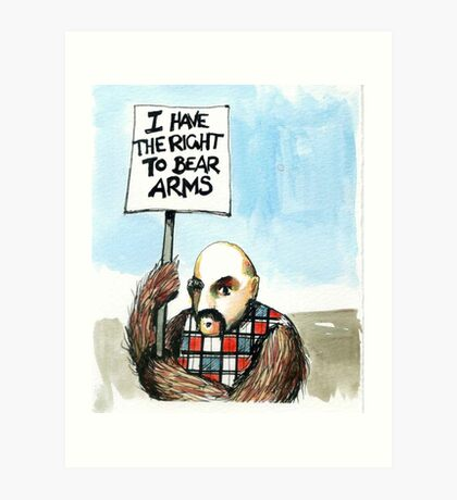 Bear Arms Art Print