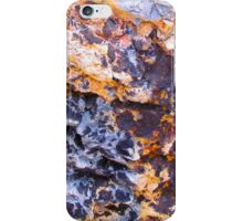 colored rock wall iPhone Case/Skin