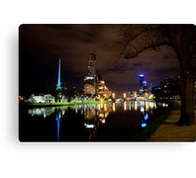 Melbourne By Night - Series Canvas Print