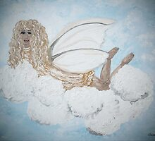A Child's Guardian Angel in Gold and Silver by EloiseArt