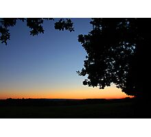 Indian Summer sunset - UK Photographic Print