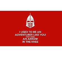 Skyrim - I used to be an adventurer like you. Photographic Print