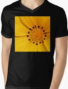 Floral Tribute in Yellow Mens V-Neck T-Shirt