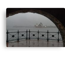 It sometimes rains in Australia ... Canvas Print