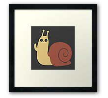 Adventure Time Snail Trance - Two Colour Framed Print