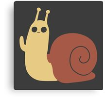 Adventure Time Snail Trance - Two Colour Canvas Print