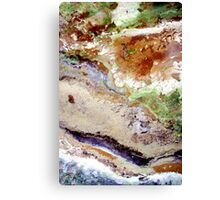 Fields Sand and the Sea - Ariel View Canvas Print