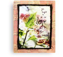 Hydrangea Love Mixed Media Canvas Print