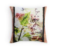 Hydrangea Love Mixed Media Throw Pillow