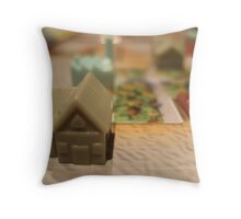 monopoly city Throw Pillow