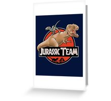 Jurassic Team Greeting Card