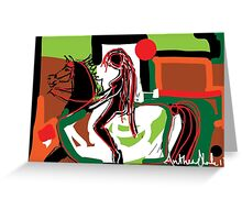 Abstract Godiva Greeting Card