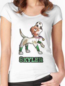 Skyler - Soccer Pointer Women's Fitted Scoop T-Shirt
