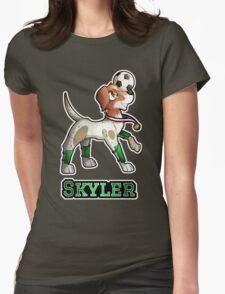 Skyler - Soccer Pointer Womens Fitted T-Shirt