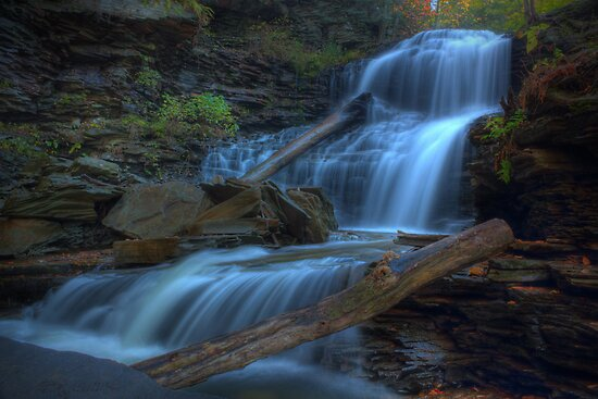Shawnee Falls (on Columbus Day) by Aaron Campbell