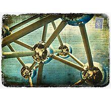 Atomium, Brussels, Belgium - Forgotten Postcard Photographic Print