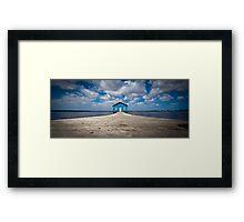 Blue Boat House Framed Print