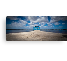 Blue Boat House Canvas Print