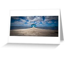 Blue Boat House Greeting Card