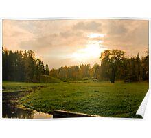 Russian autumn. Pavlovskiy Park  Poster