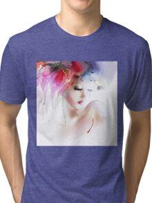 Portrait of a beautiful elegance woman Tri-blend T-Shirt