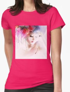 Portrait of a beautiful elegance woman Womens Fitted T-Shirt