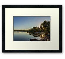 Kingscliff Sunburst Reflection Framed Print