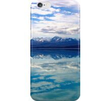 New Zealand lake and mountains landscape iPhone Case/Skin