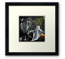 Trick or Treat at The Bates Motel ! Framed Print