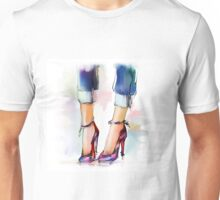 Shoes. Hand painted fashion illustration  Unisex T-Shirt