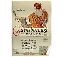Advertisements Photoplay Magazine January through June 1922 0641 Cainsborough Genuine Hair Net Poster