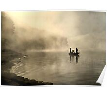 Fishing in the Mist Poster