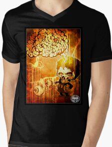 MINDFAWK Mens V-Neck T-Shirt