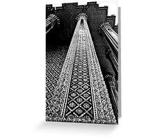The Royal Palace Columns Greeting Card