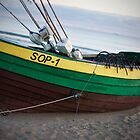 Beached Boat in Sopot by Moko1
