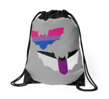 Bi Demisexual Pride Bats Drawstring Bag