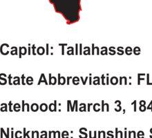 Florida Information Educational Sticker