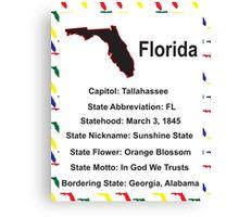 Florida Information Educational Canvas Print