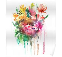 Flowers. Watercolor illustration Poster