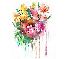 Flowers. Watercolor illustration Photographic Print