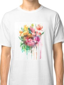 Flowers. Watercolor illustration Classic T-Shirt