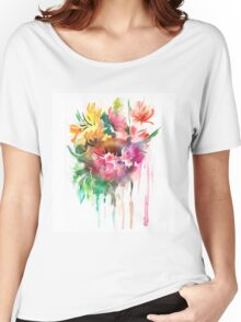 Flowers. Watercolor illustration Women's Relaxed Fit T-Shirt