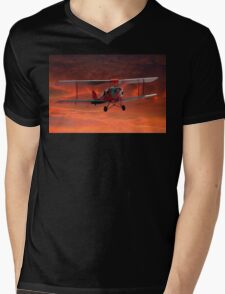 Two seater Tigermoth Mens V-Neck T-Shirt