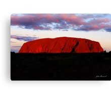 Uluru at sunset Canvas Print
