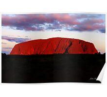 Uluru at sunset Poster
