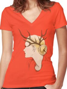 Costume Party 3 Women's Fitted V-Neck T-Shirt